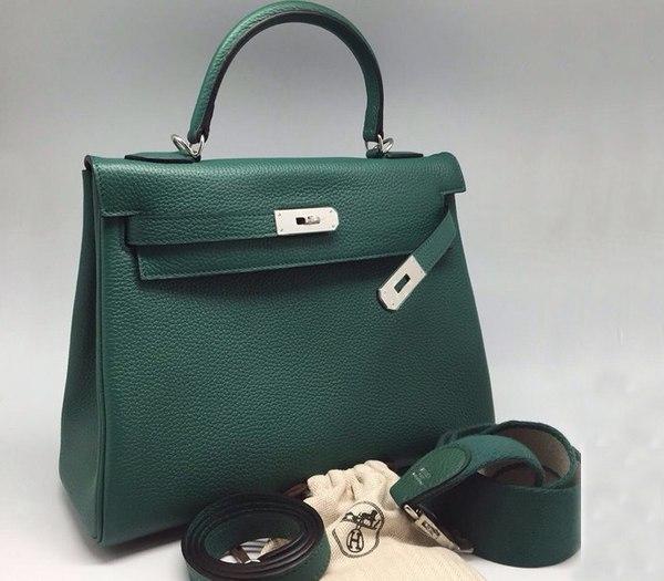 8298e8ff8a03 Сумка женская Hermes Kelly (Гермес Келли) Green - 25 850 руб ...