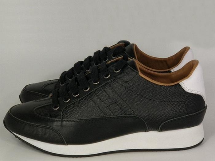 Женские кроссовки Hermes (Гермес) кожаные Black - 15 850 руб ... d8a021a1d4a