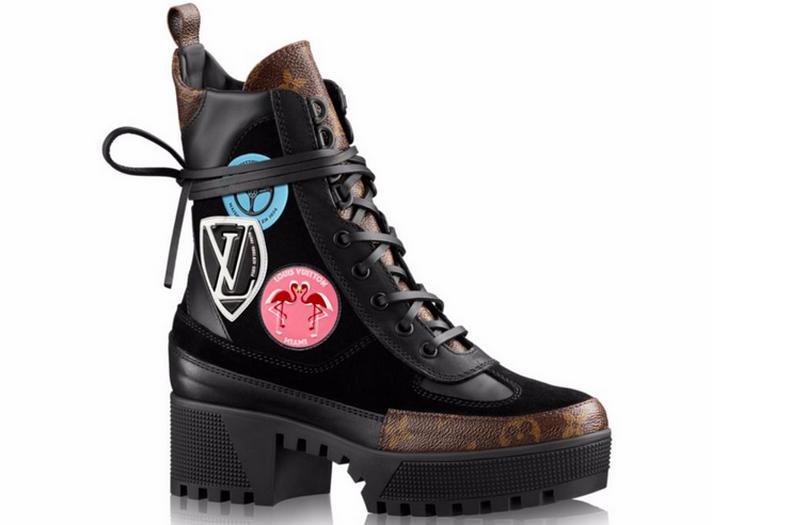 Ботинки женские Louis Vuitton (Луи Виттон) Black Brown Pink - 14 950 ... 782bb603821