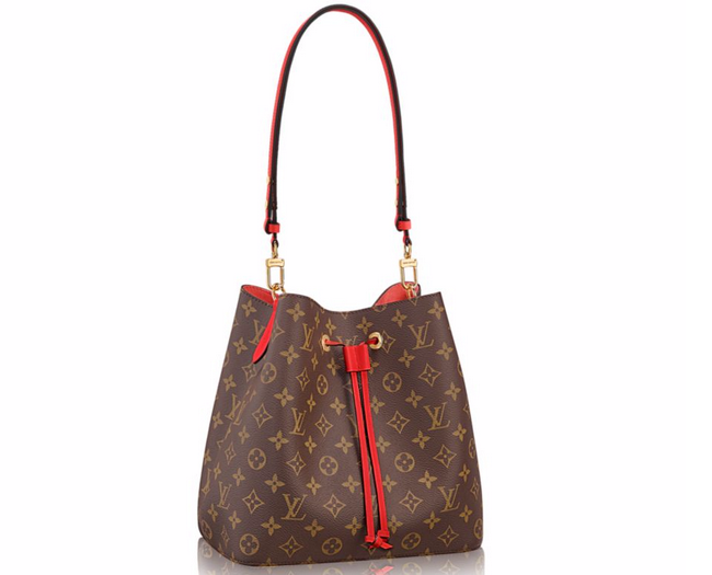 Женская сумка Louis Vuitton (Луи Виттон) Monogram Canvas Neonoe Brown 2a4dd974b6f